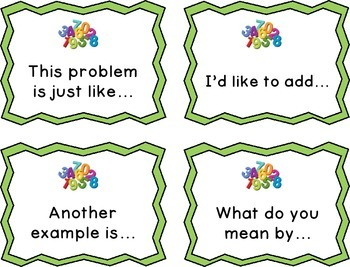 Math Talks Discussion Cards