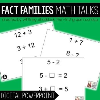 Math Talks: Fact Families