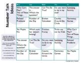 Math Talks Number Talks Calendar and Description