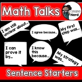 Math Talks Sentence Starters (FREEBIE)