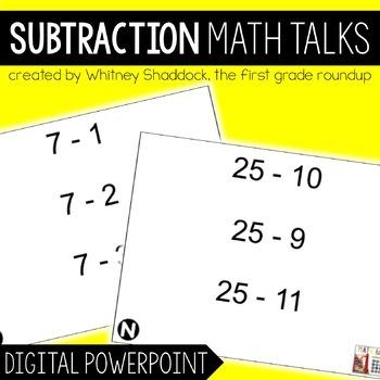 Math Talks: Subtraction