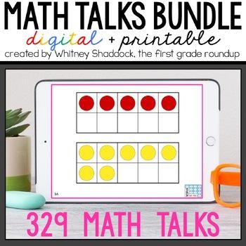 Digital Number Talks and Math Talks Bundle
