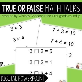 Math Talks: True False Equations