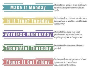 Math Talks for 3rd Grade, BUNDLE 40 weeks!