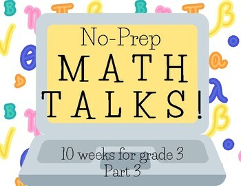 Math Talks for 3rd Grade, PART 3
