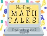Math Talks for 3rd Grade, PART 3