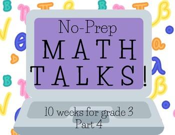Math Talks for 3rd Grade, PART 4