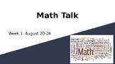Math Talks for 4th-6th Graders (Week 1)