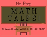 Math Talks for 4th Grade-- 40 WEEK BUNDLE!