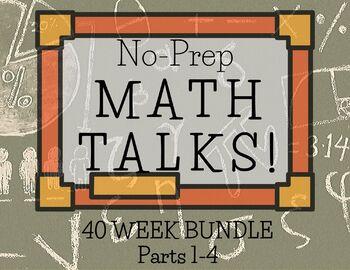 Math Talks for Grade 2- WHOLE YEAR BUNDLE