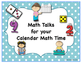 Math Talks for Your Calendar Math Time