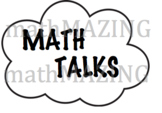 Math Talks or Conversation Starters