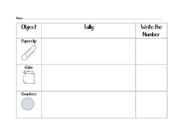 Math Tally Worksheet Printable