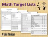 Math Target Lists