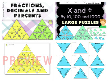 Math Tarsia Puzzles Growing Bundle