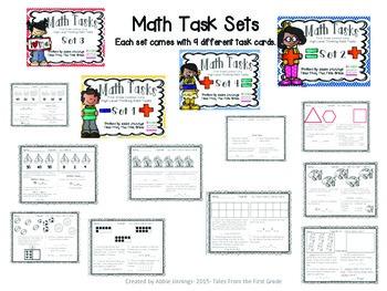 Math Tasks- 1st Grade-  Sample Set
