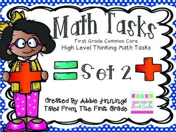 Math Tasks- 1st Grade- Set 2