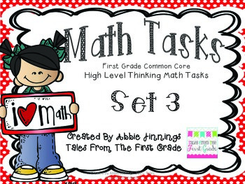 Math Tasks- 1st Grade- Set 3