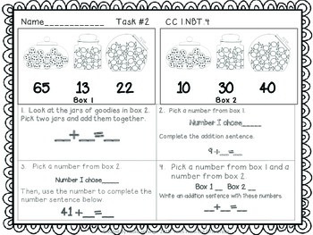 Math Tasks- 1st Grade- Set 4