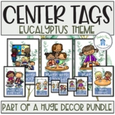Math Task Board Tags Eucalyptus Theme