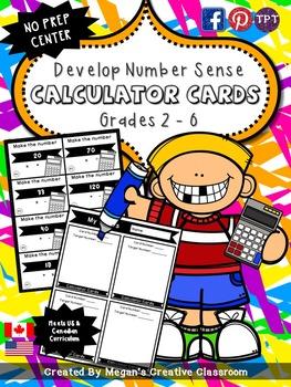 Calculator Cards: Center for Math Fluency