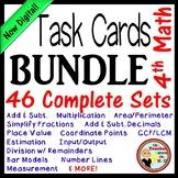 Math Task Card BUNDLE (Over 300 cards w/ QR Codes!)  4th-5th