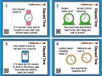 A Math Task Card BUNDLE (Over 300 cards w/ QR Codes!)  4th-5th