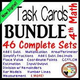 Math Task Card BUNDLE (Over 500 cards w/ QR Codes!)  4th-5th