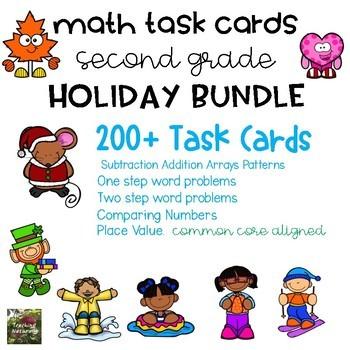 Math Task Card BUNDLE (2nd grade) #discountedbundles