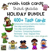 Math Task Card Holiday BUNDLE (3rd grade)