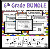 6th Grade Math Task Card BUNDLE {480 Concept-themed Cards}