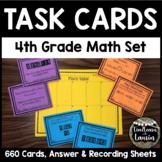 4th Grade Math Task Cards Bundle (33 Sets = 660 Cards)