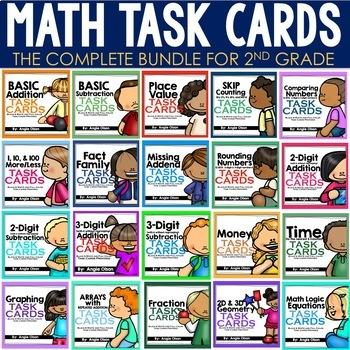 Math Task Cards Bundle | Math Centers | Math Games