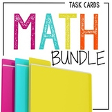 Math Task Card Bundle: Place Value, Problem Solving, Fractions, and More!