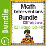 Math Interventions  or Test Prep Task Card Bundle RIT Band
