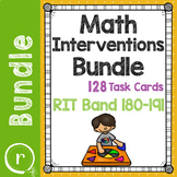 Standardized Test Prep Math Task Cards Maps RIT Band 180-191 Intervention Bundle