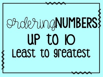 Math Task Card Bundle:  Ordering Numbers