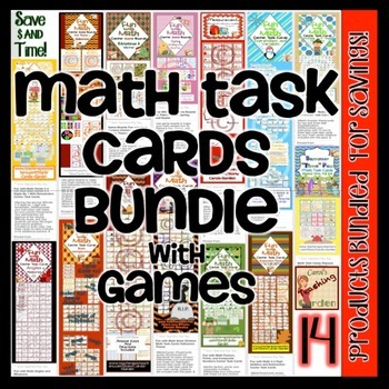 Math Task Card Bundle Common Core Inspired