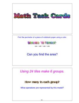 Math Task Card Center