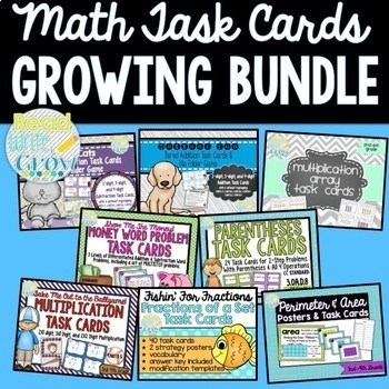 Math Task Card & Games BUNDLE