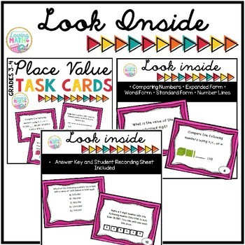 Math Task Card BUNDLE - Grades 3-4