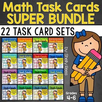 Math Task Cards Super Bundle - Grades 4-6