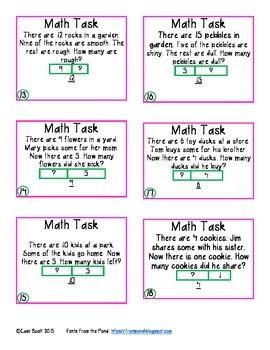 Math Task Card Sampler 2