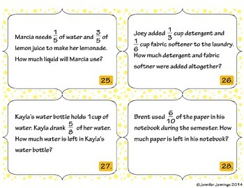 Math Task Card Set - Common Core Aligned