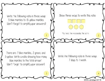 Math Task Card Set - Common Core Aligned