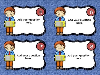 Math Task Card Template Place Value for Scoot, Centers, more.