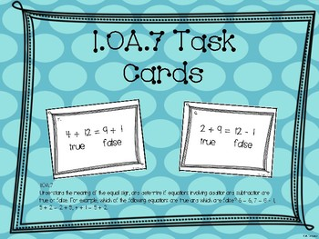 Math Task Cards 1.OA.7