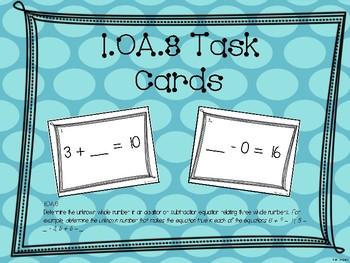 Math Task Cards 1.OA.8