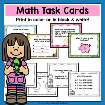 Math Task Cards - First Grade