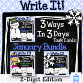 Math Task Cards {2-Digit Numbers} ~ January BUNDLE